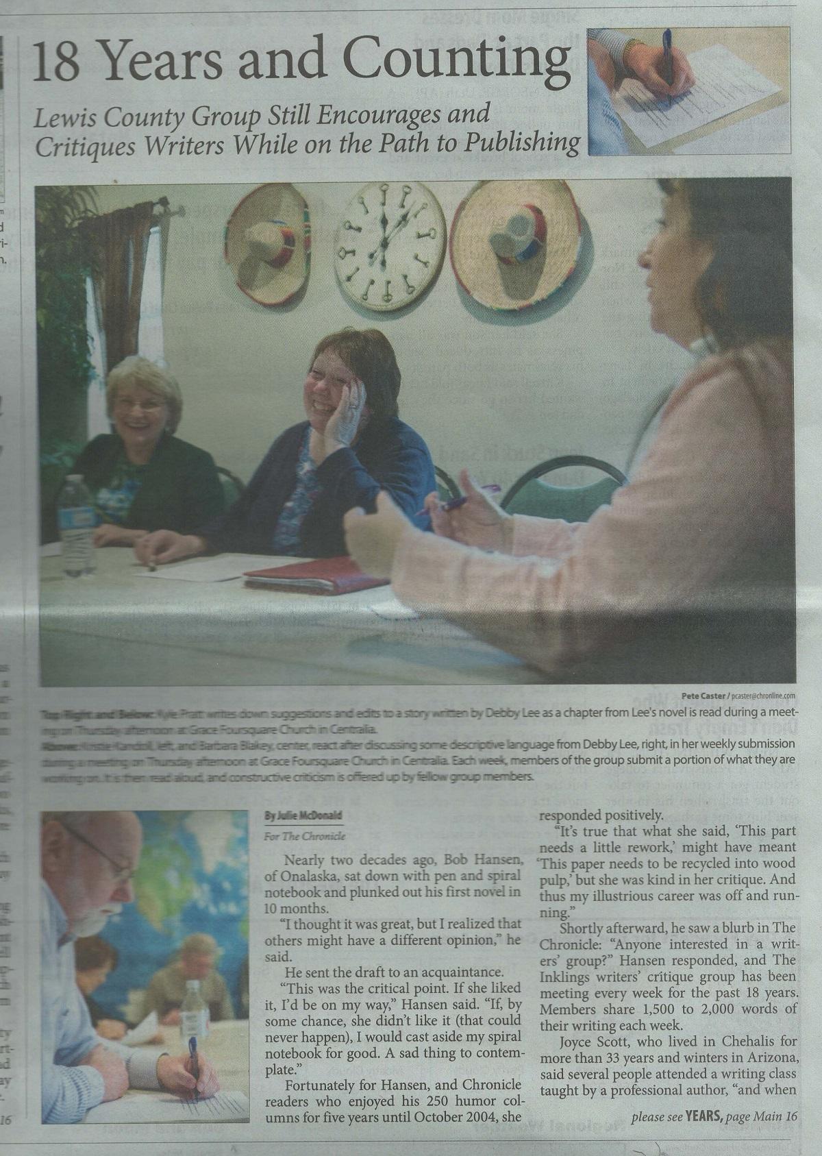 Kristie Kandoll, Barbara Blakey and Debby Lee. Kyle Pratt in lower photo.