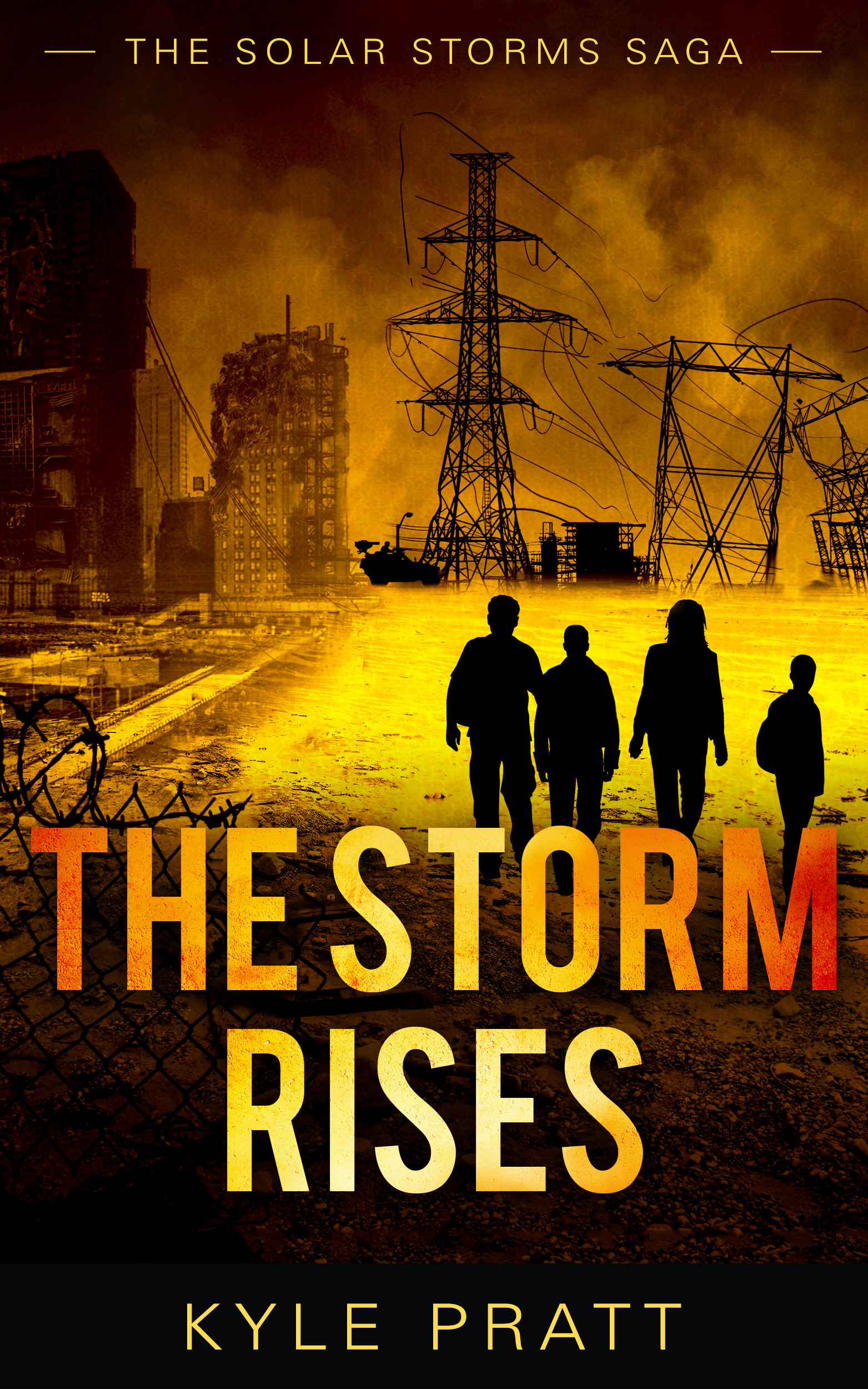 The Storm Rises, book 0, the introduction to the Solar Storms Saga. The cover for Facing the Storm has not yet been designed.