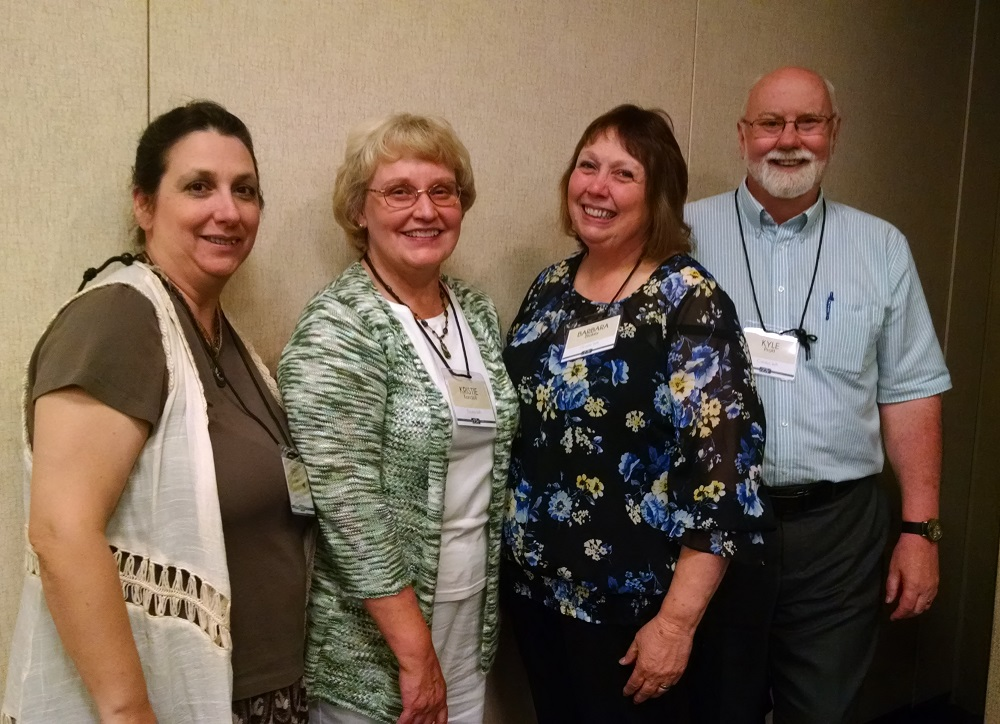 Friends and Authors Debby Lee, Kristie Kandoll, Barbara Blakey with Kyle Pratt