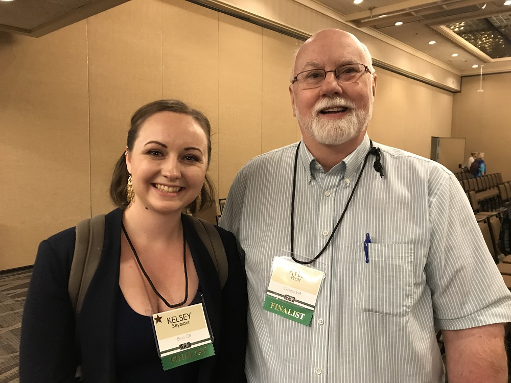 Kyle Pratt and Kelsey at the Oregon Christian Writers Conference