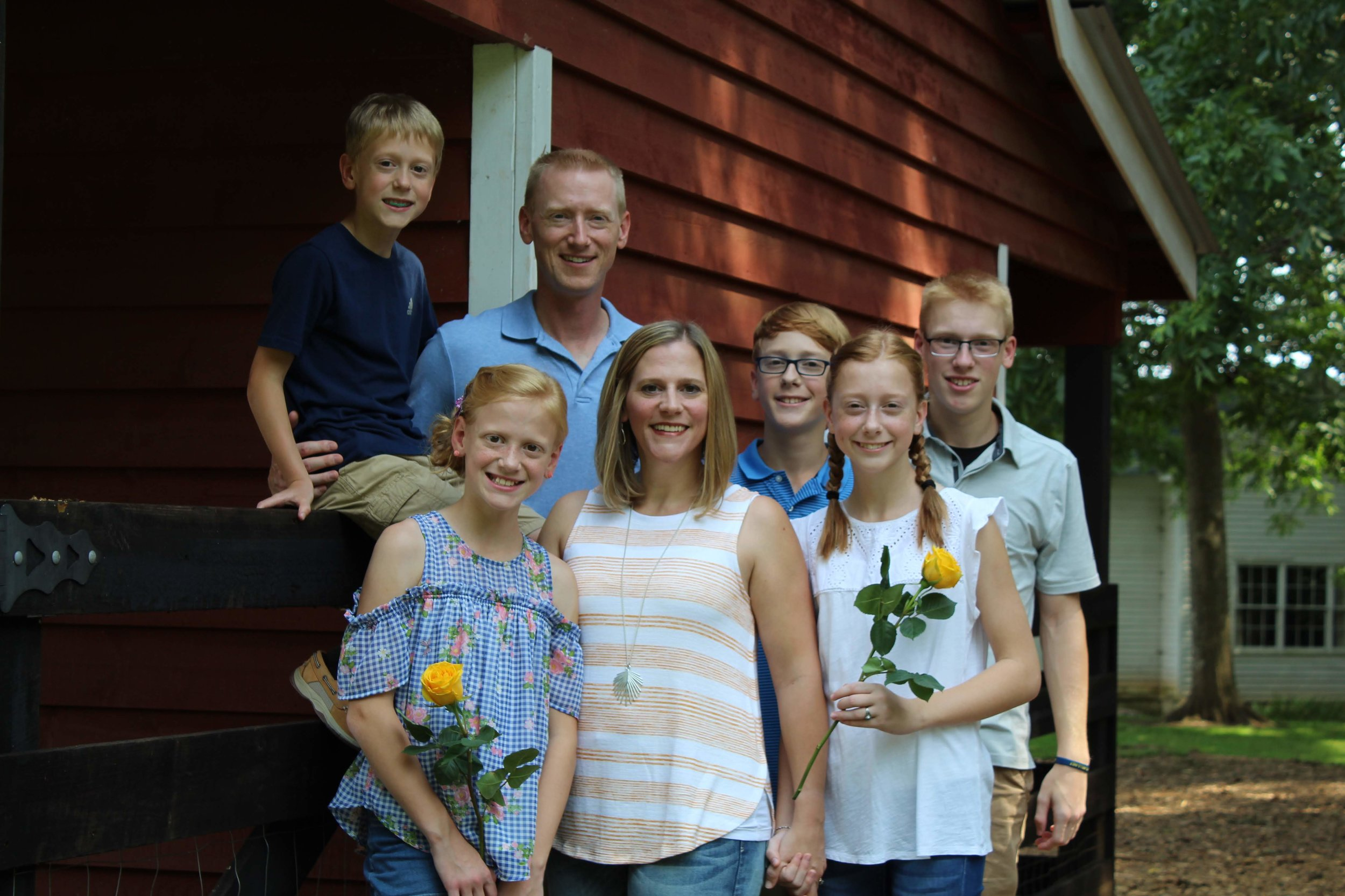 Pastor Paul Horn and his family