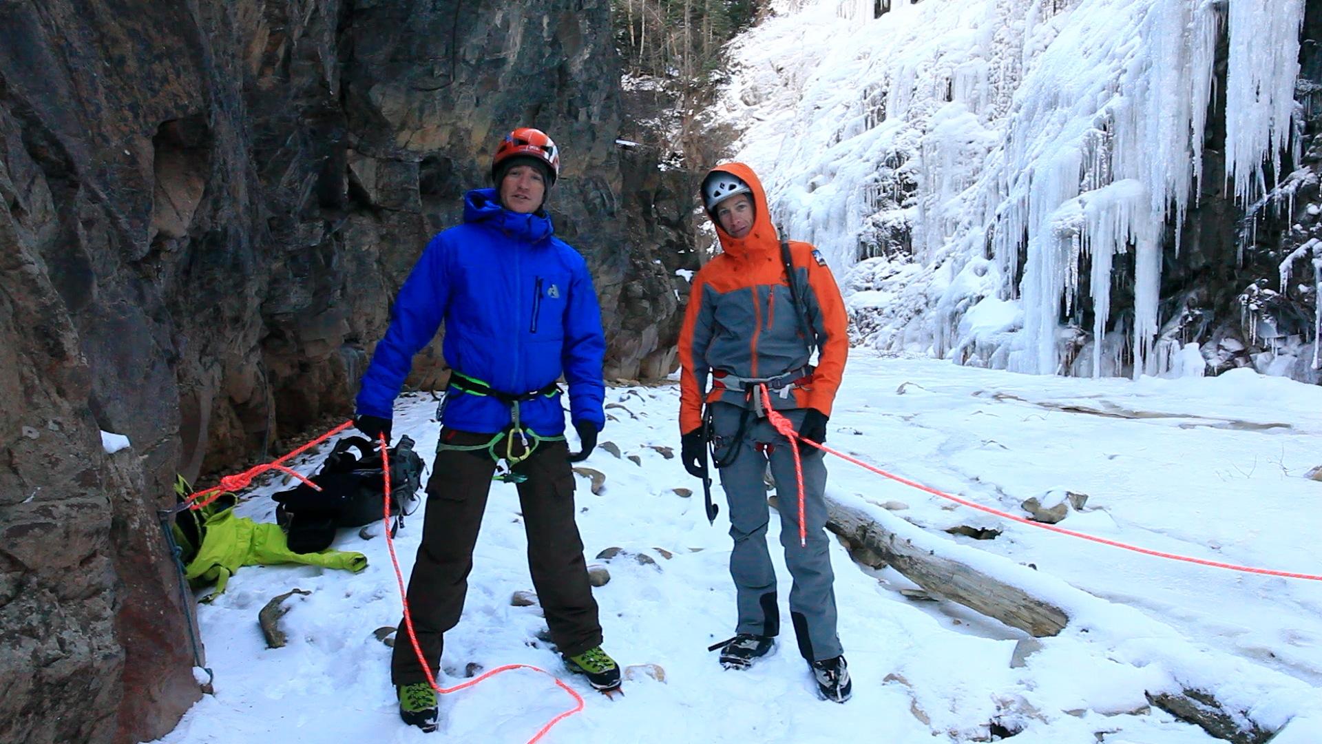 Ice Park Instructional Video - Belay Anchor in SchoolRoom - Chad Peele - .jpg