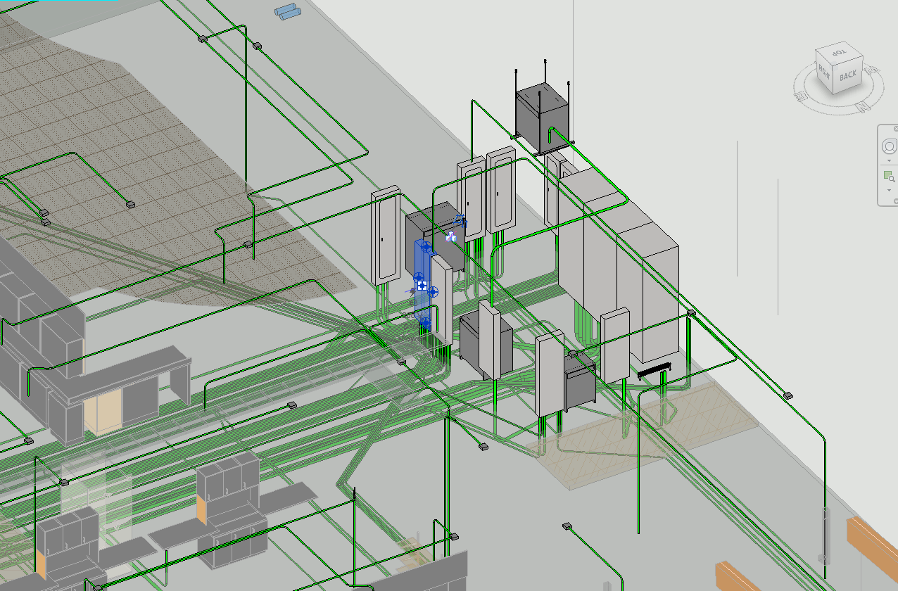 Underground piping and planning { Modeled and designed by me, not complete design}