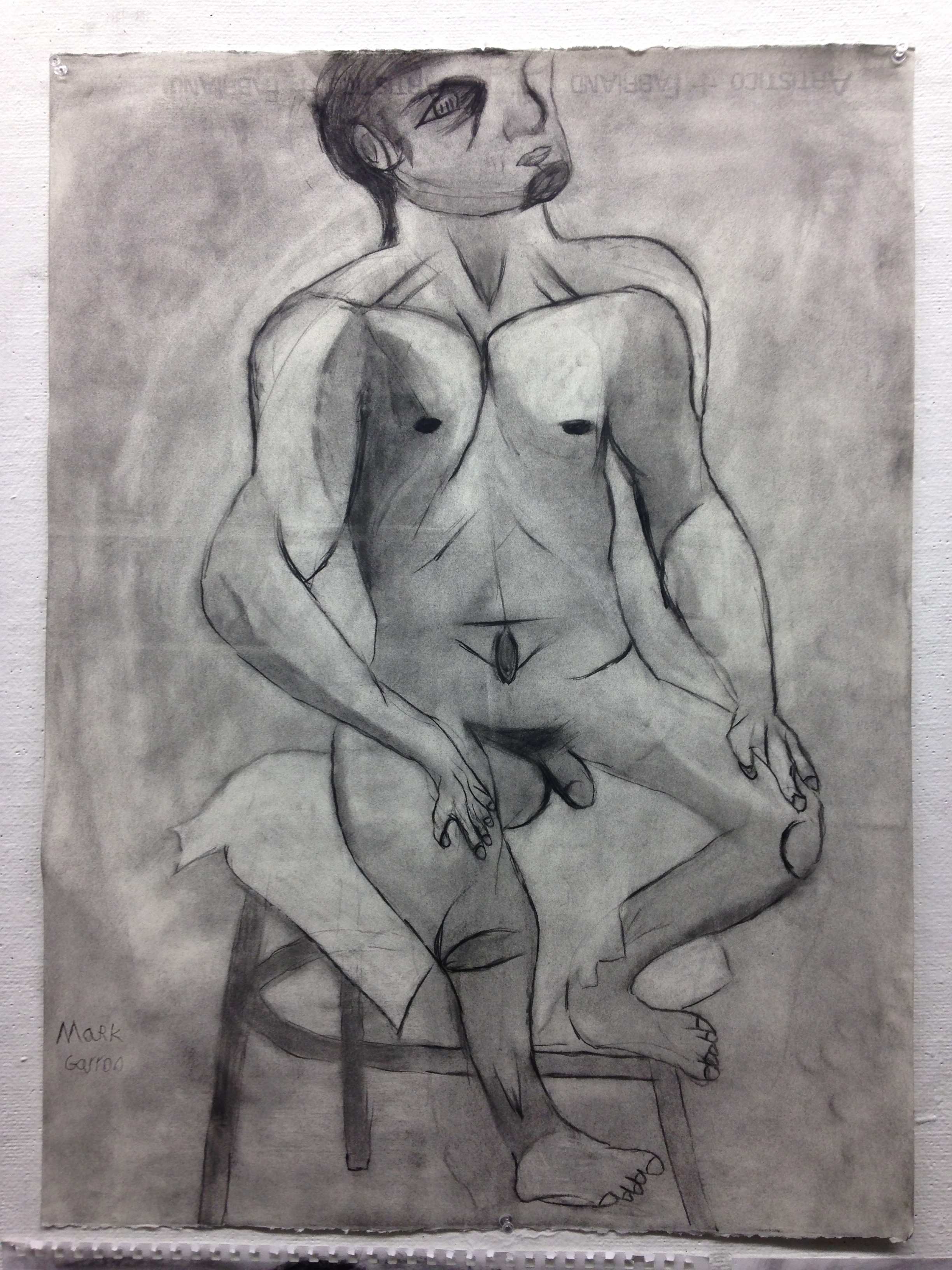 """22""""x 30"""" charcoal on paper"""