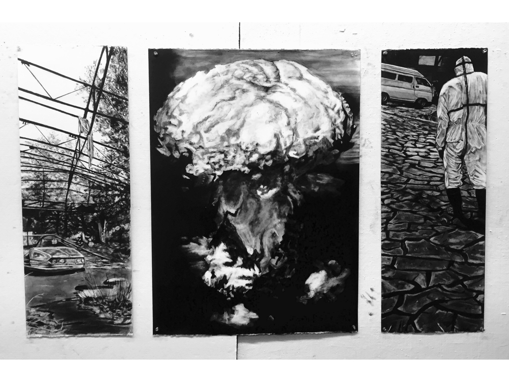 Multi-panel drawing based on theme  Disaster