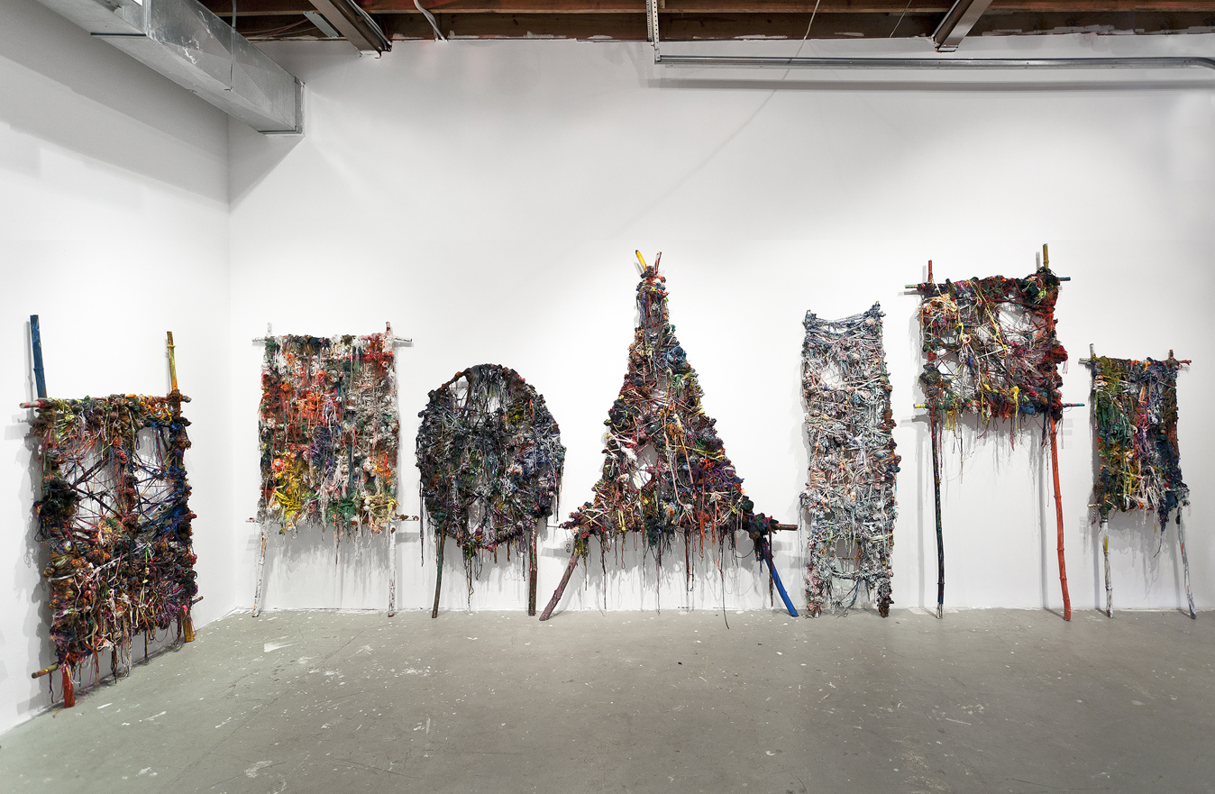 Installation of Wound, Bound, Knotted, and Tied at Locust Projects