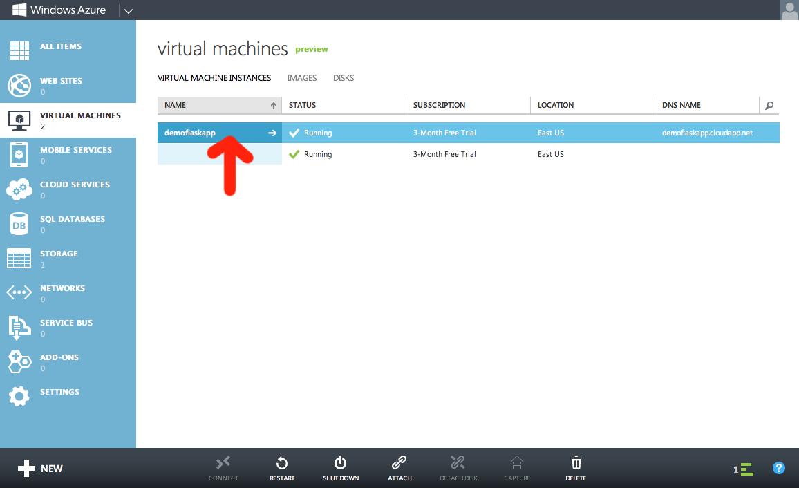 Your new running VM.