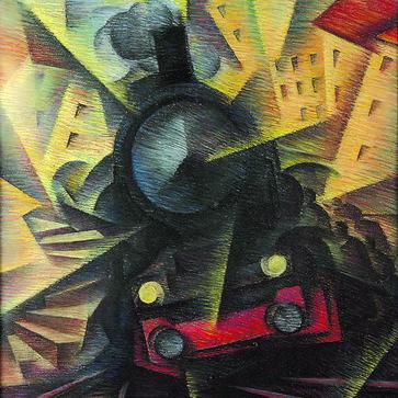Fig 1.3  | Speeding Train, 1922, Ivo Pannaggi
