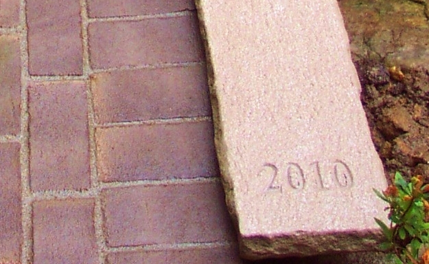 Date of Construction Carved into Stone Bridge Coping