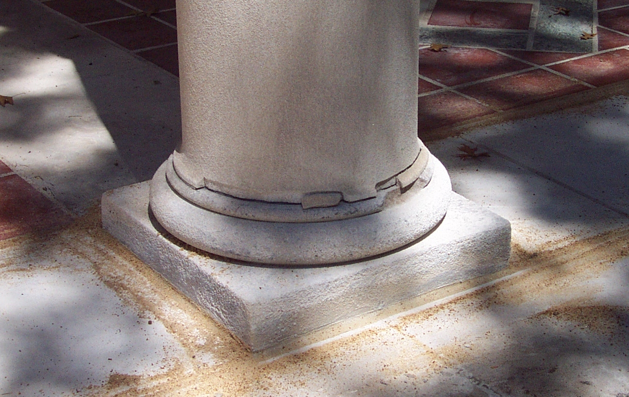 Indiana Limestone Column Broken at the Base