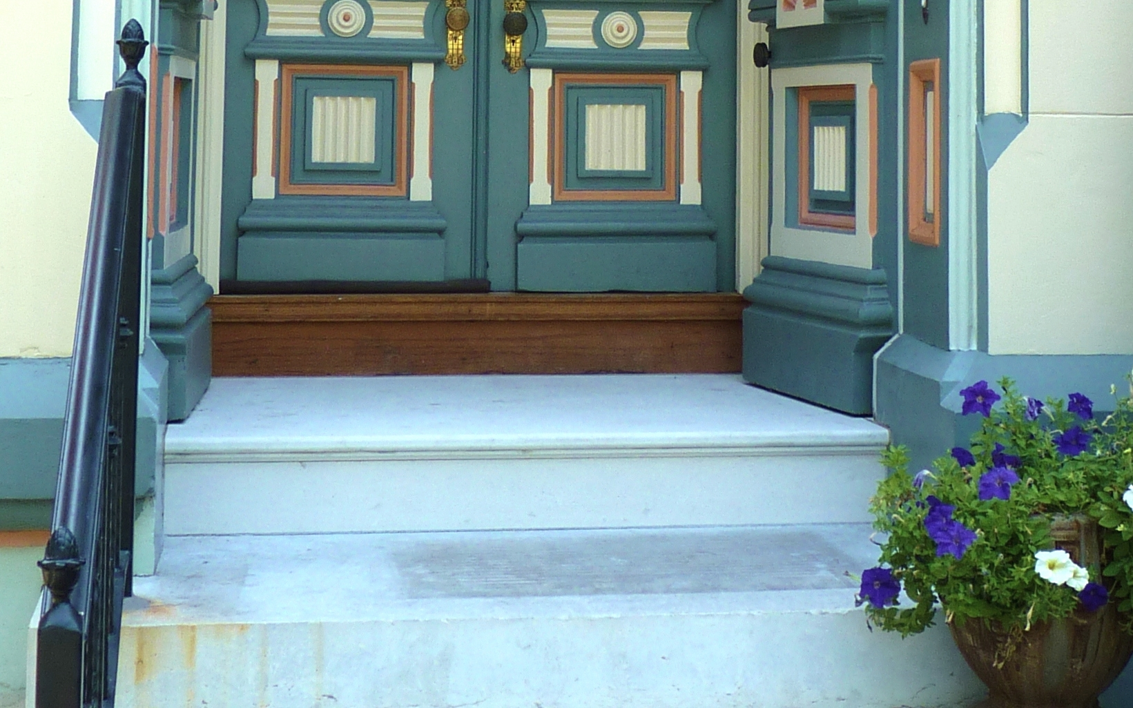 Marble Porch Repaired - Lafayette Square Neighborhood, Saint Louis, MO - Stone Works - Lee Lindsey