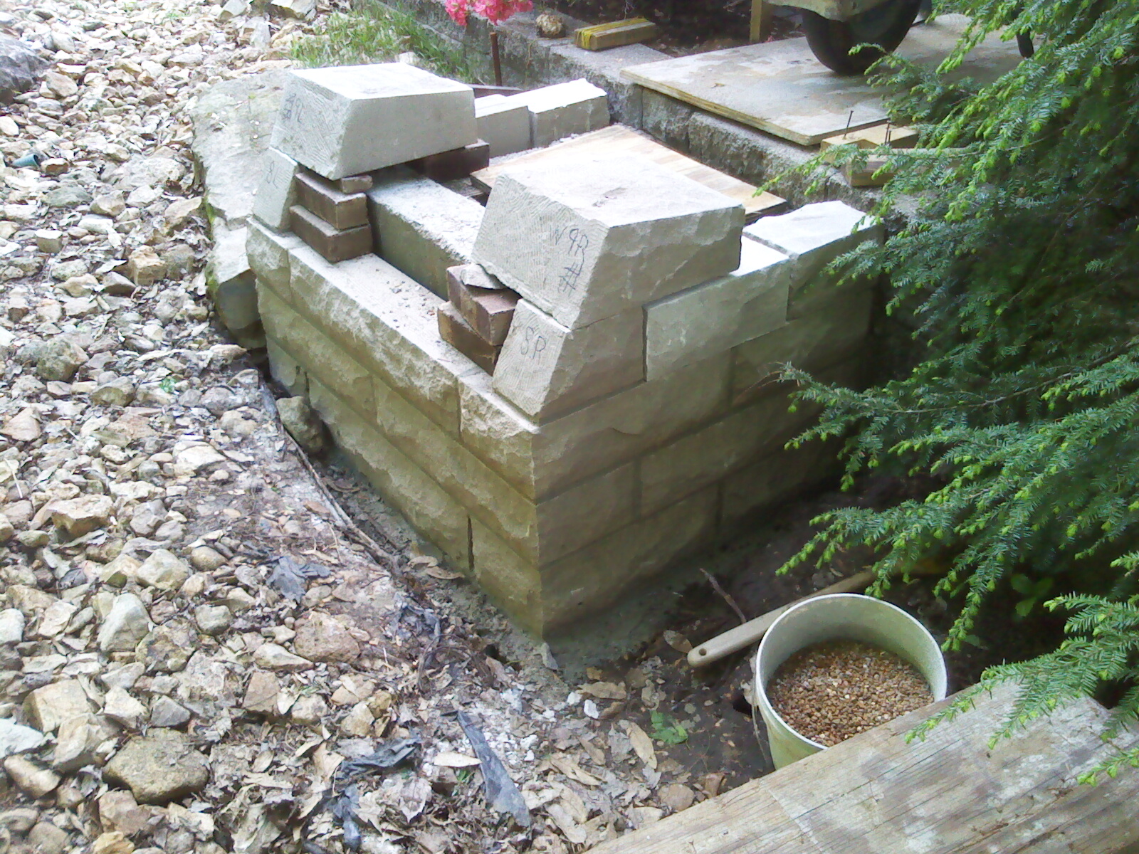 End Walls Constructed.