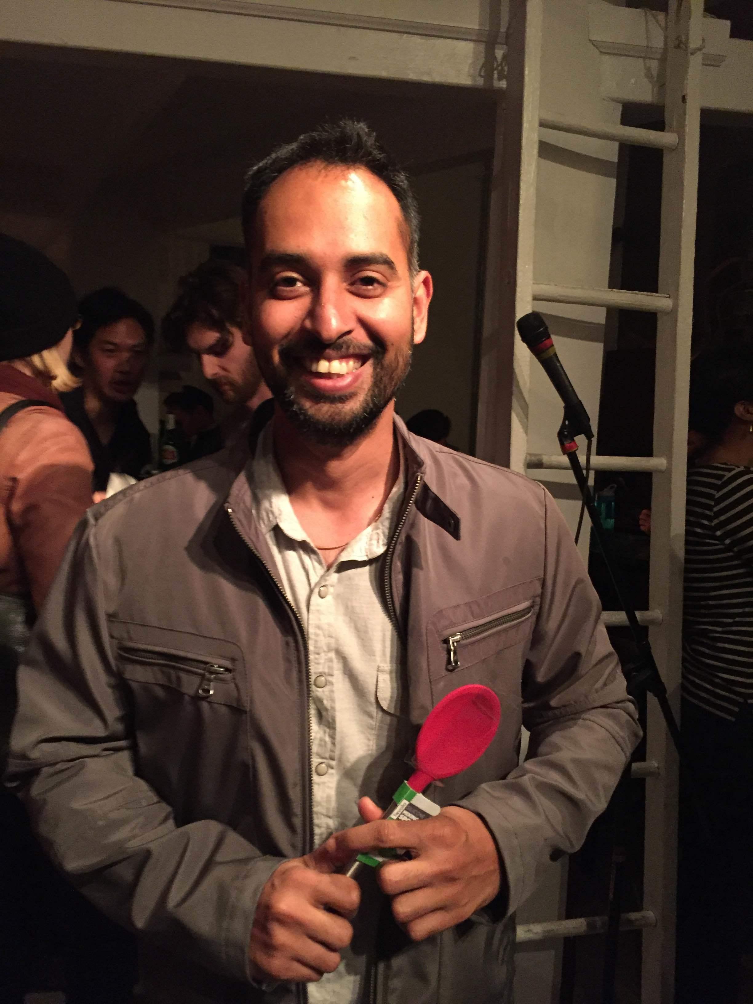 Rama won the spoon!