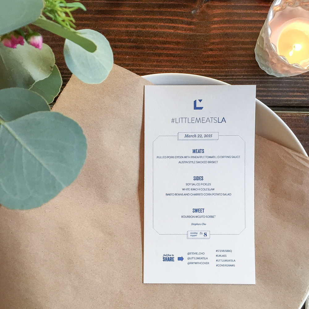 The first Littlemeats LA + Presshaus LA menu