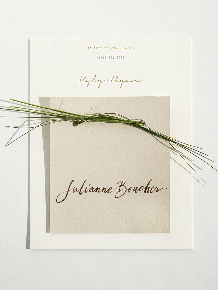 Wedding menu + place card