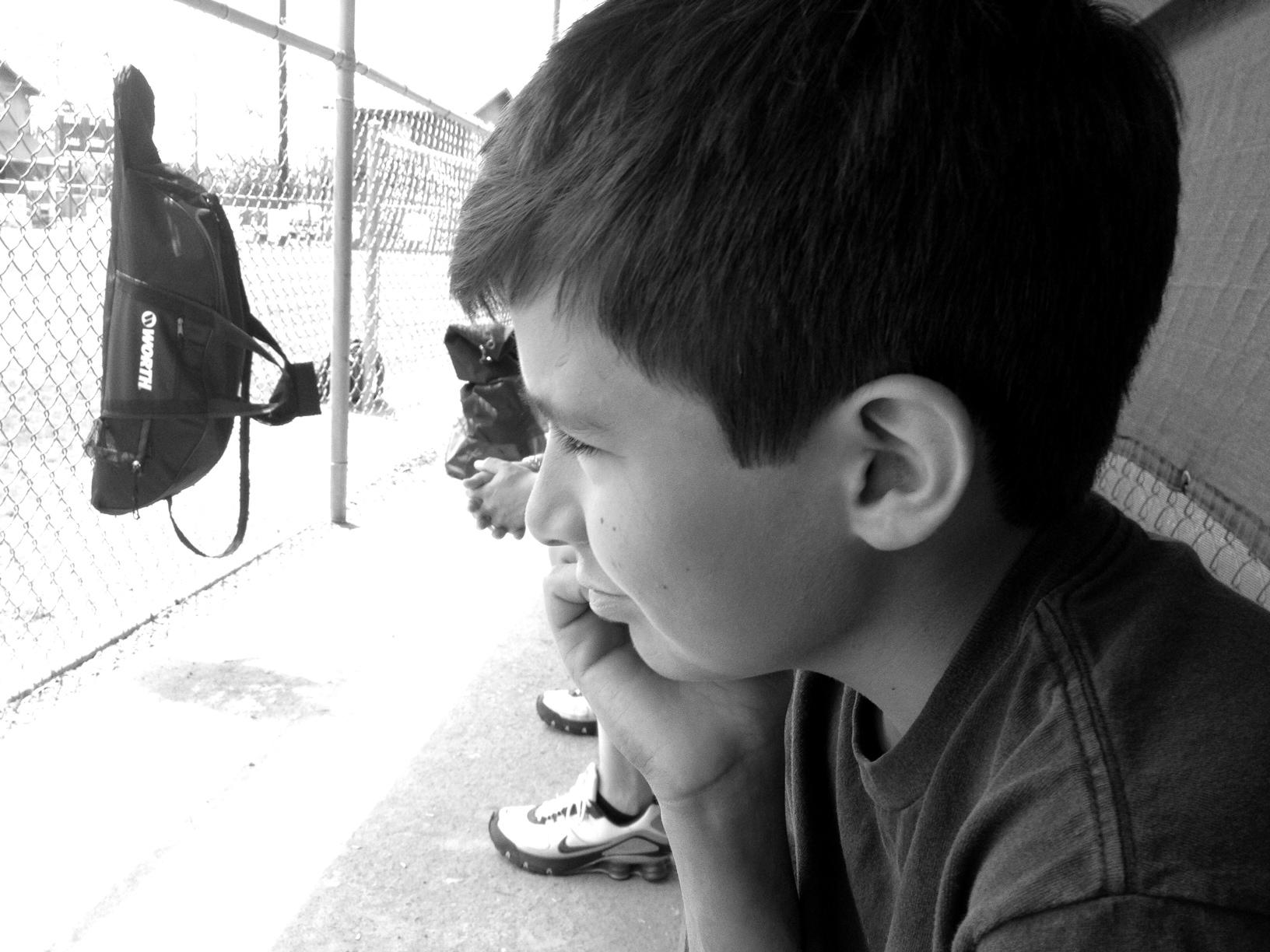 Thomas at the Ball Field