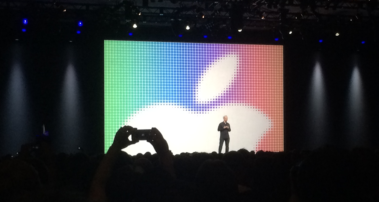 Tim Cook during the Keynote - (K. Sliech, iPhone 5S)