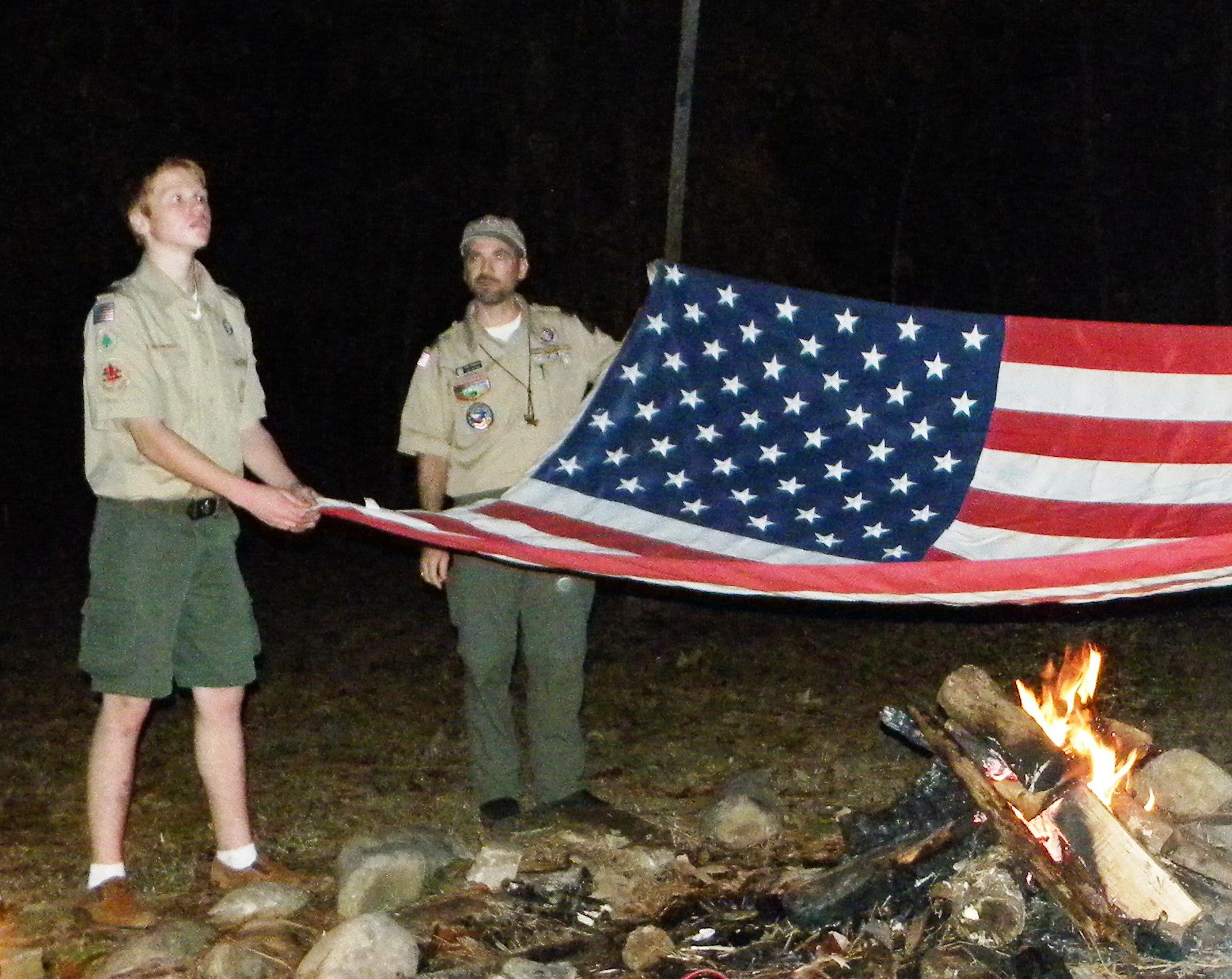 Troop 149 US Flag Retirement Ceremony