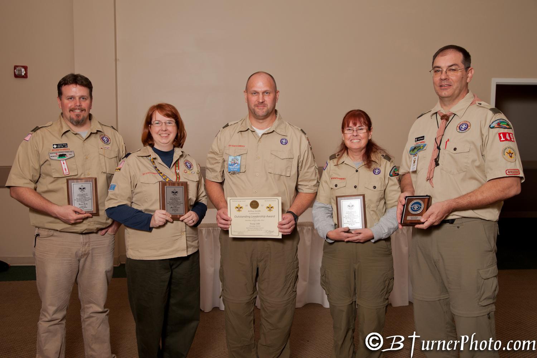 Award Winning Adult Leaders. Congratulations!