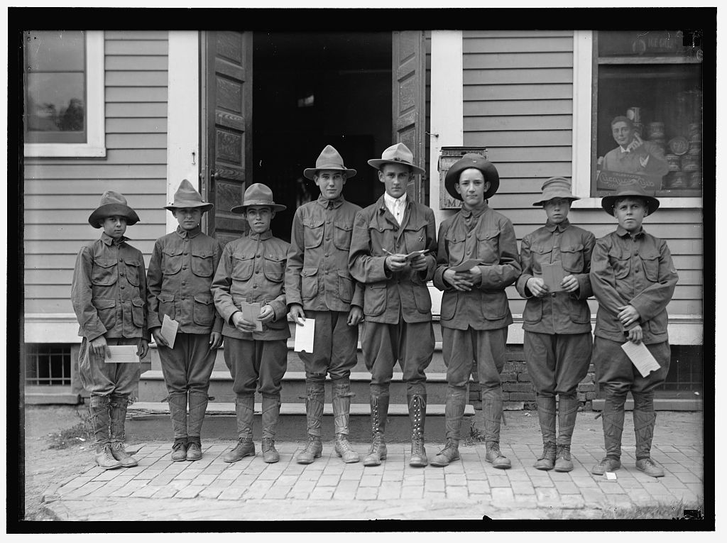 BOY SCOUTS - courtesy  Library of Congress