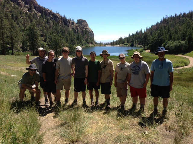 Philmont Crew at Cathedral Rock, Cimarroncito Reservoir