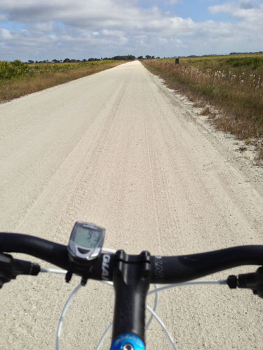 Biking on the entrance road. Hard shell roads suitable for biking, along with 100 miles of  trails/service roads for off road bicycling, are shared with hikers,  horseback riders and park vehicles.