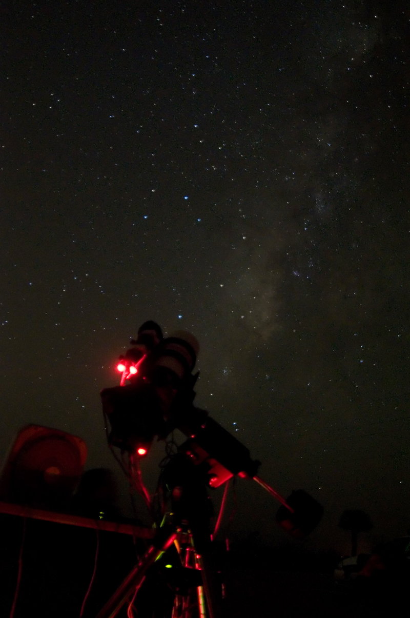 A shot of the Milkyway behind my scope.
