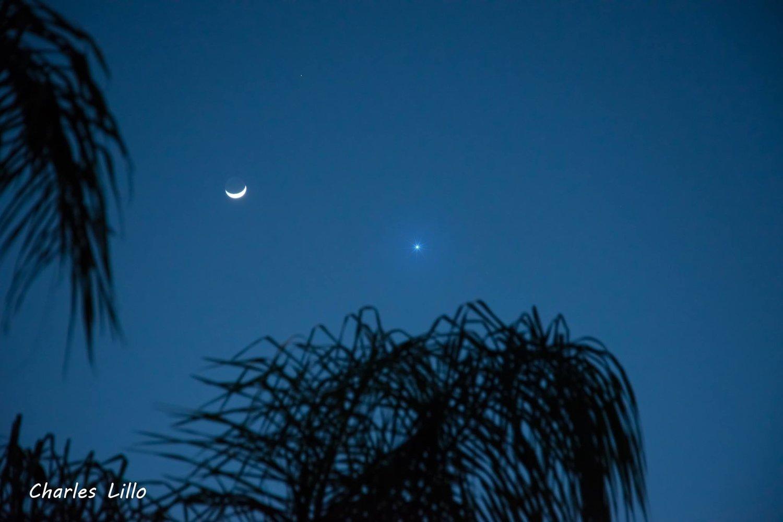 Mars, Venus and the crescent Moon: Davie, Fl