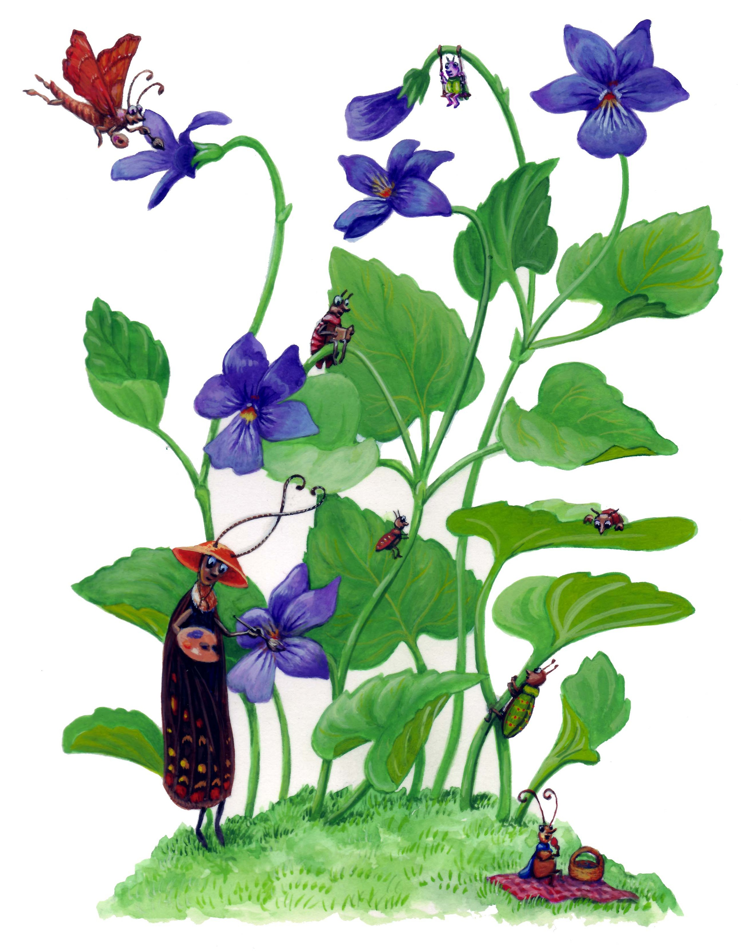 Busy Bugs-violets.jpg
