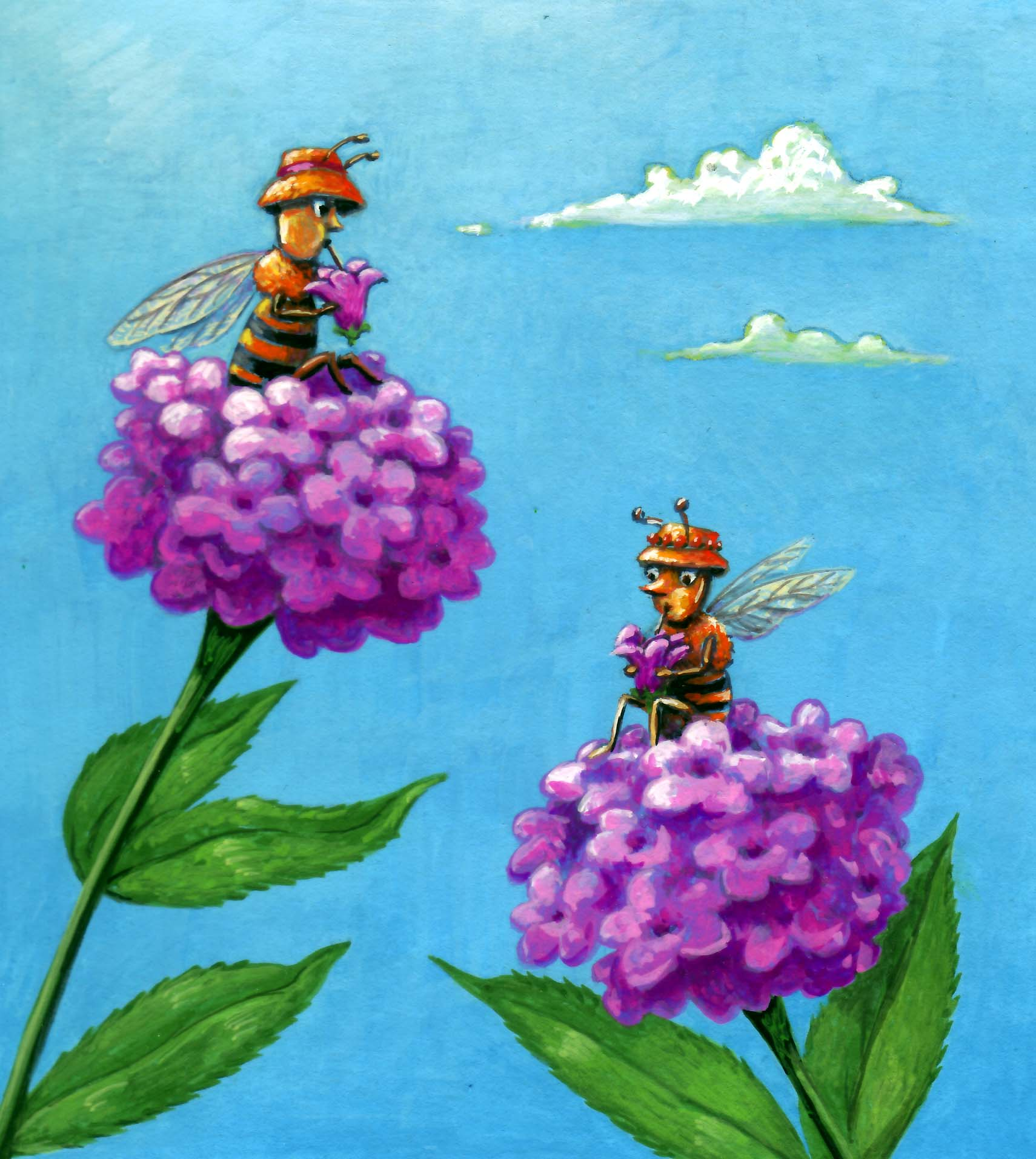 Busy Bugs-sipping bees.jpg