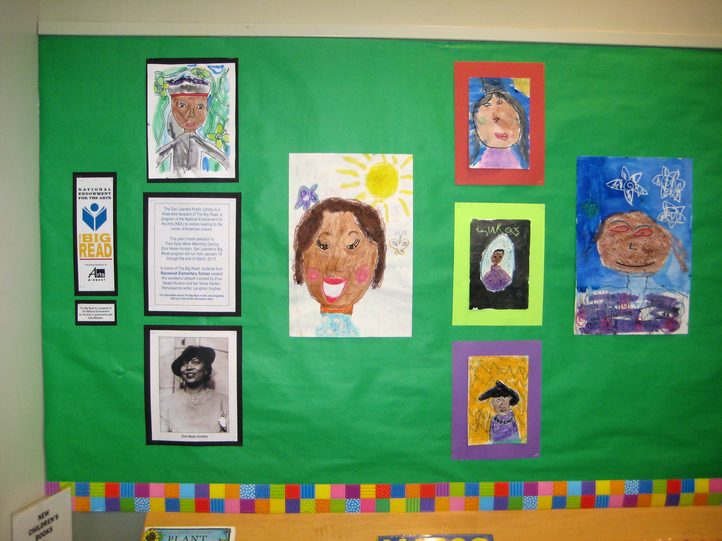 4th & 5th Grade Portraits of Zora Neale Hurston