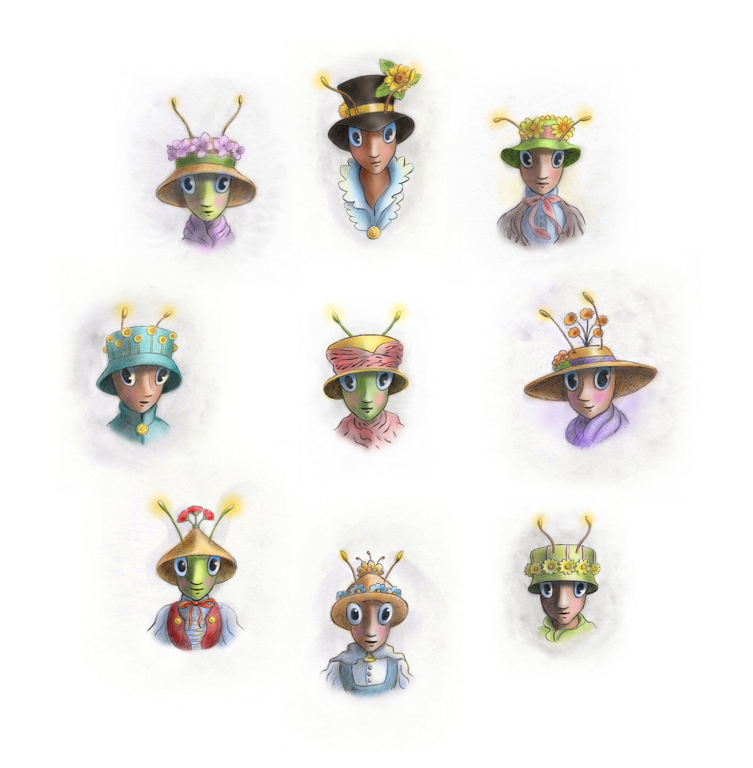 Fashion Bugs with Spring Hats copy.jpg
