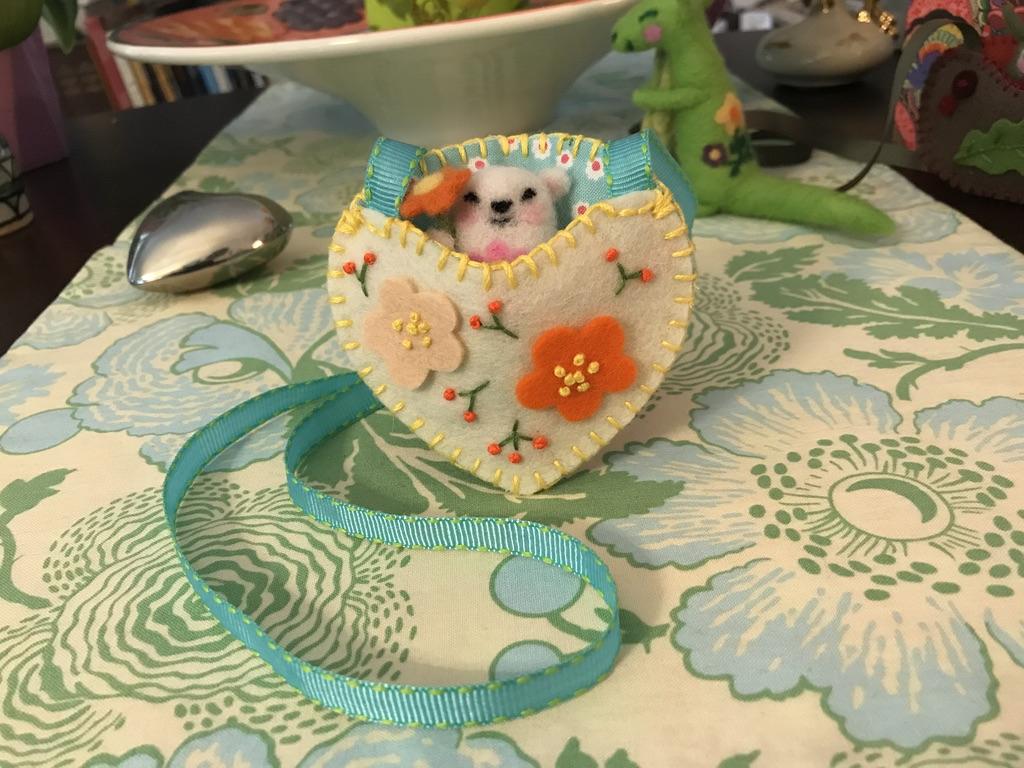 Woolen creature-necklace pouch-orange flower.jpeg