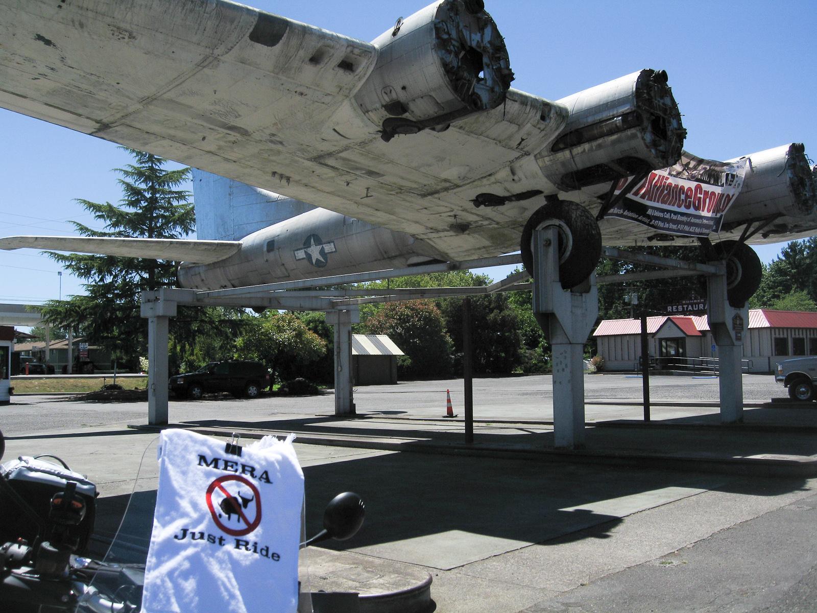 B-17 on pylons