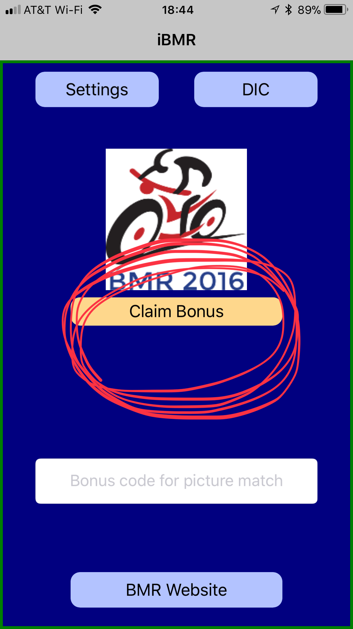 """If you are using the original version of the app,the DIC/HIC/MIC is locked in when you use tap the """"Claim Bonus"""" button."""