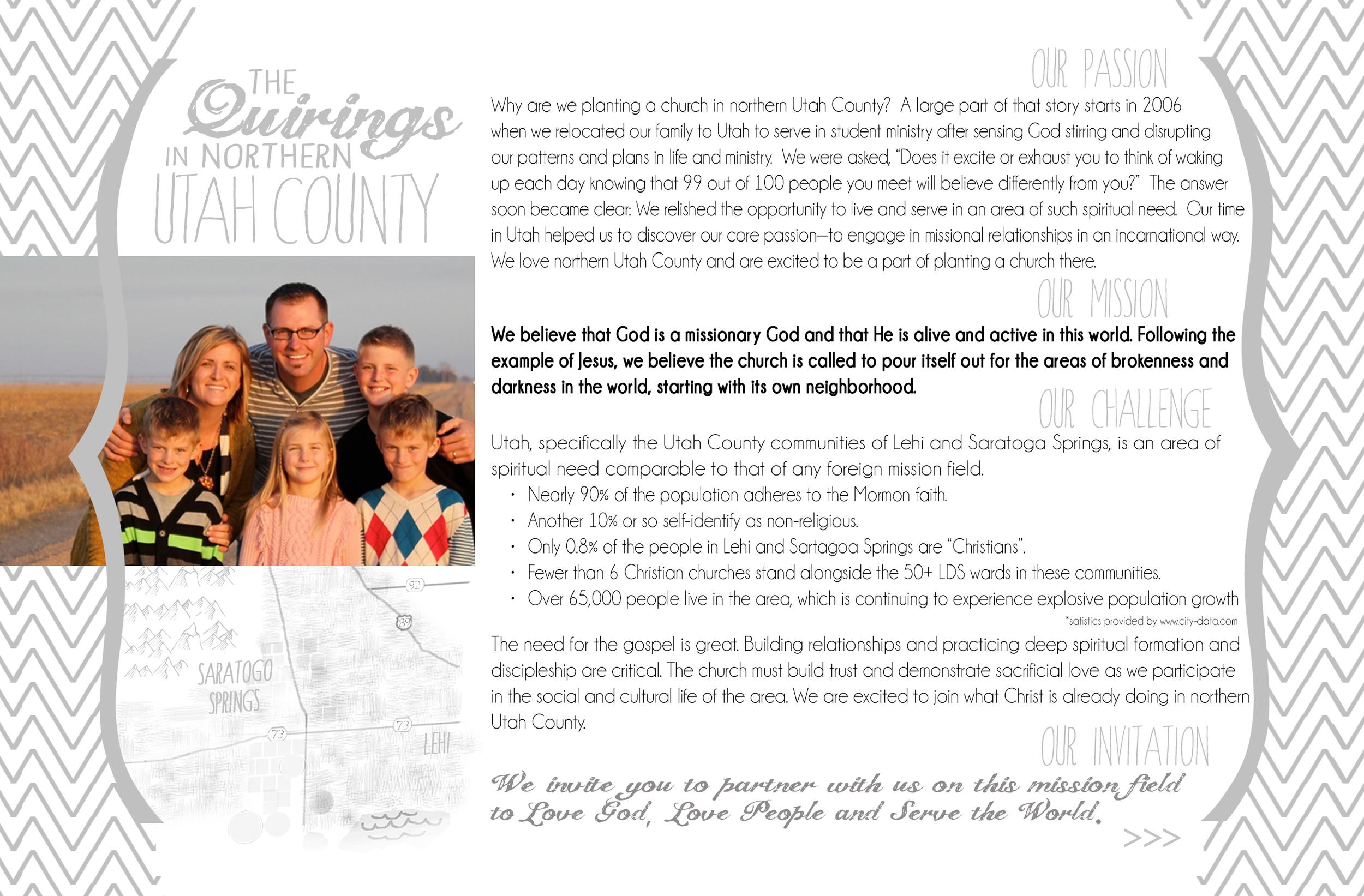 Nonprofit fundraising postcard, front