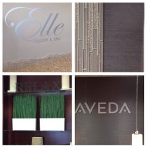 Composite of commercial client remodel elements for Aveda Salon & Spa
