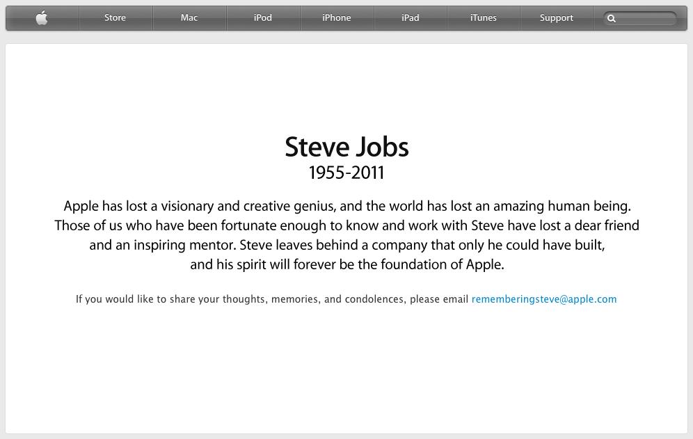 Thank you, Steve Jobs.. R.I.P.