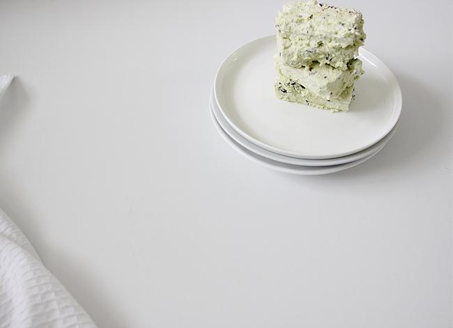 Erika Rax - Green Tea Choc Chip Meringue Semi Freddo