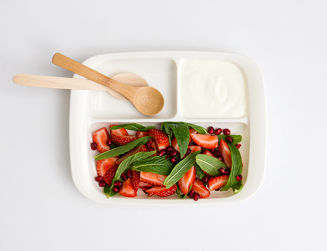 Erika Rax - Strawberry Pomegranate Salad with Rosewater Yoghurt