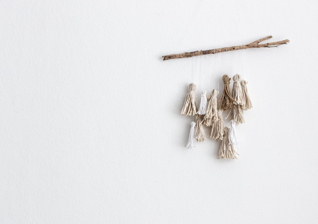 Erika Rax - DIY Twine Tassel Mobile