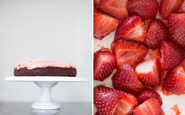 Erika Rax - Birthday Cake with Roasted Strawberry Buttercream