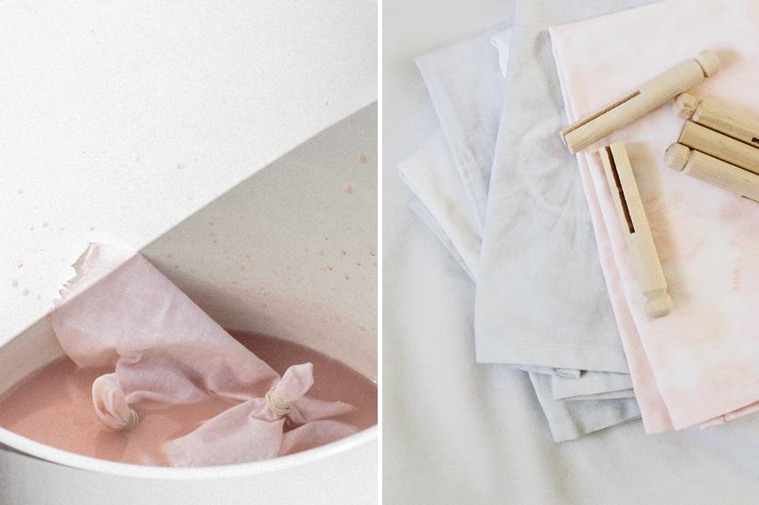 DIY Dyed Napkins | Erika Rax