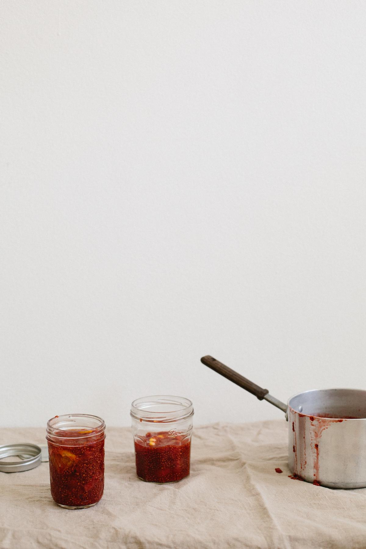 Strawberry + Blood Orange Chia Jam | Erika Rax