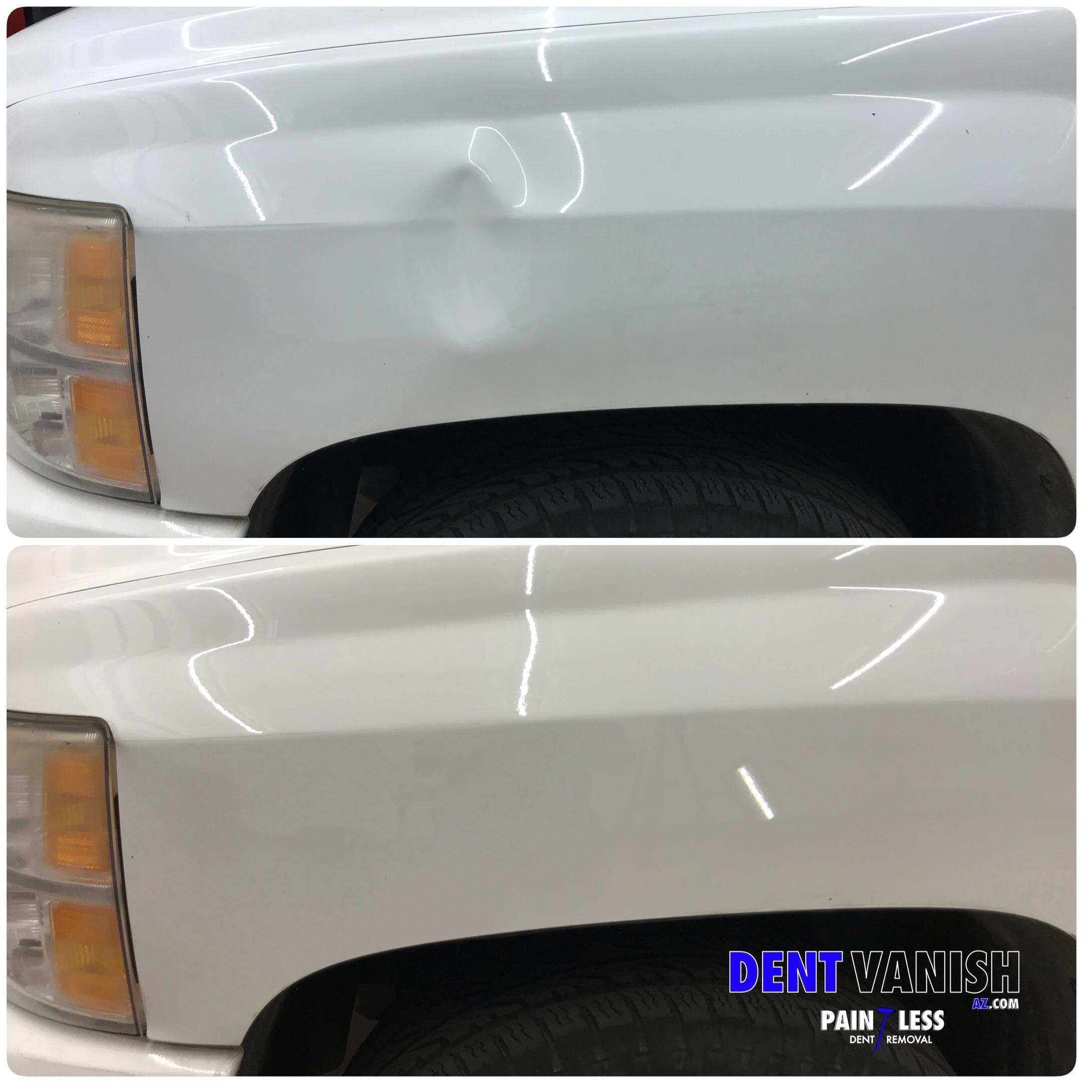 Chevy Silverado fender repair