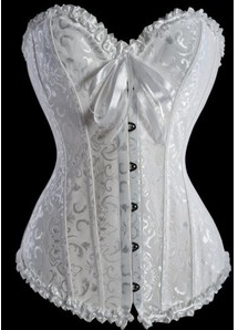 Size 24: corsets, corsets, corsets! For those who have plenty of curves and want to bring things in a little at the waist. Voluptuous women look great in this classic piece.