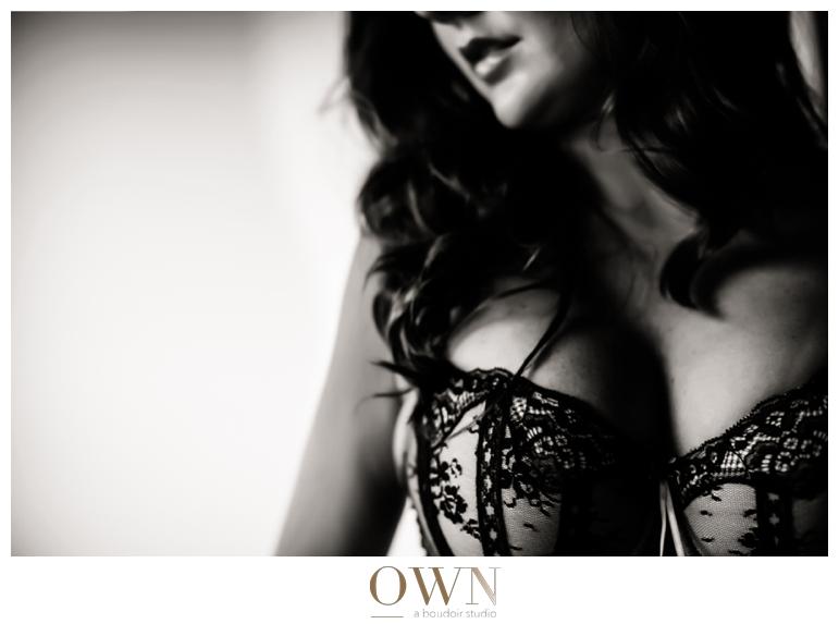 curvy brunette boudoir atlanta own boudoir black and white photo beautiful woman