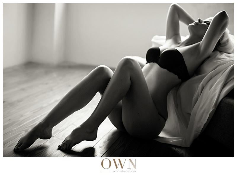 boudoir client interview blog black and white