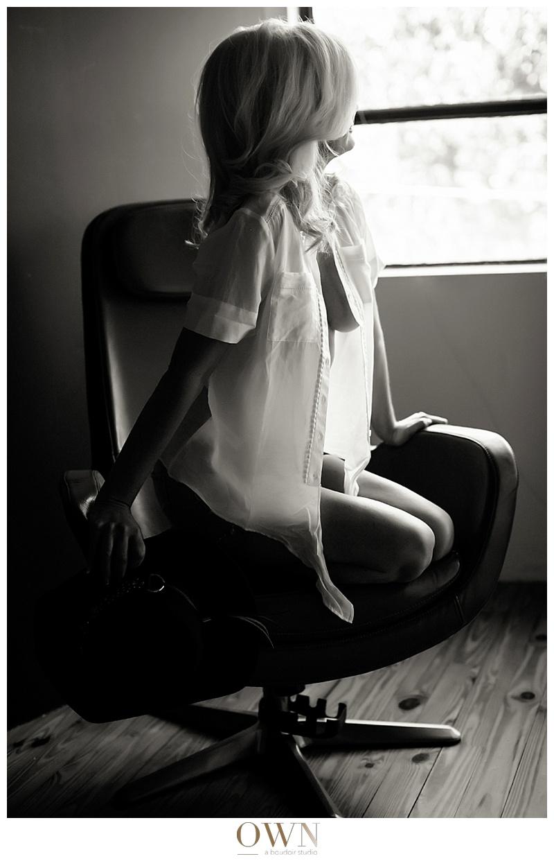 side view beautiful blonde boudoir atlanta blog client interview