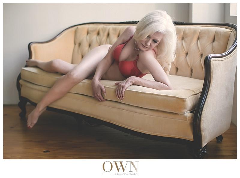 lady in red bra boudoir atlanta
